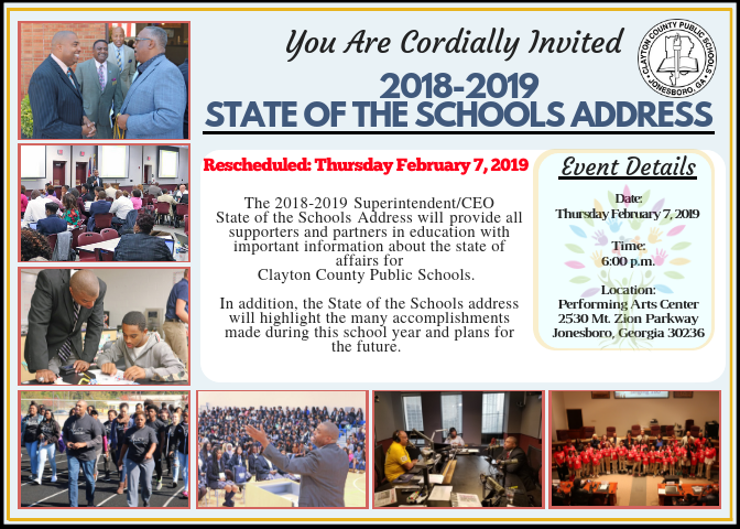 state of the schools invitation image