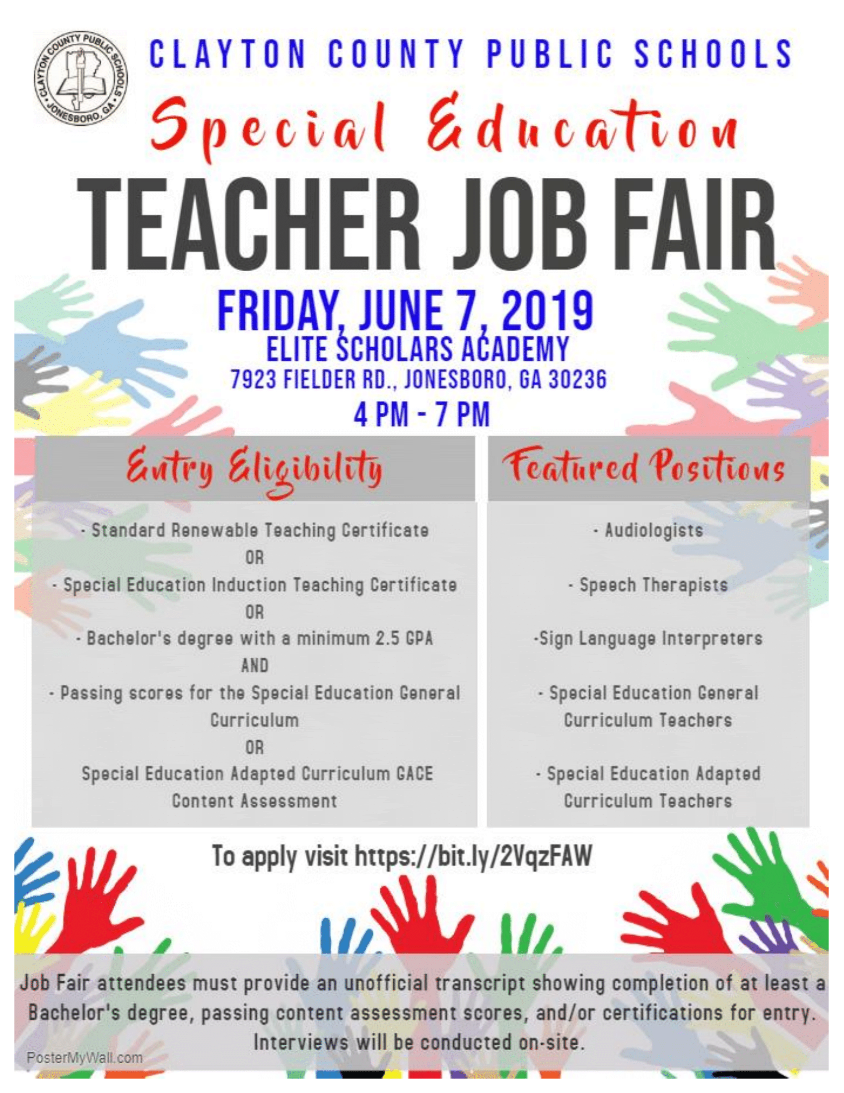Special Education Job Fair
